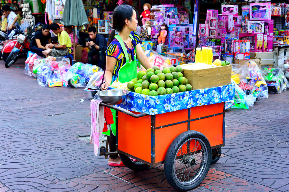 20 neighborhood china town fruit vendor
