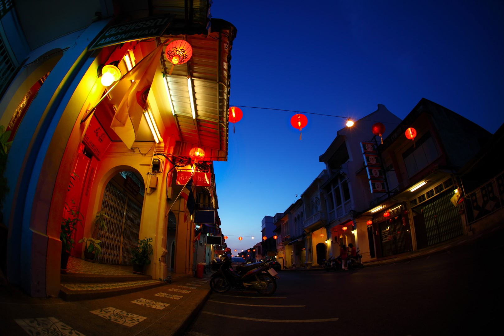 phuket town neighborhood evening city