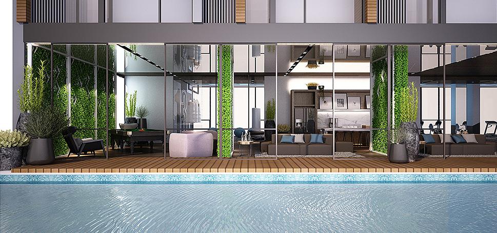 aq aria asoke bangkok condo 3d facility pool 1