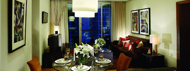 pbanner ascott sathorn bangkok dining and living area
