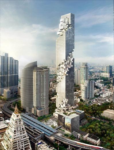 mahanakhon building 3d rendering 2