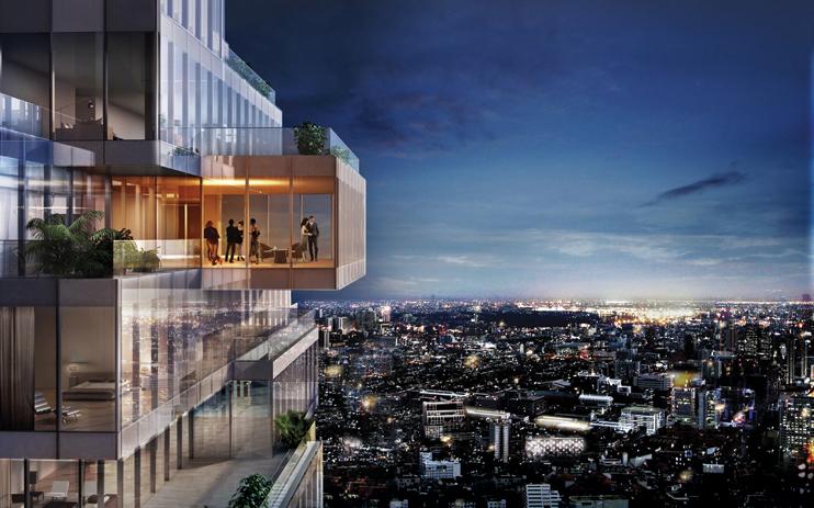 mahanakhon building 3d rendering 3