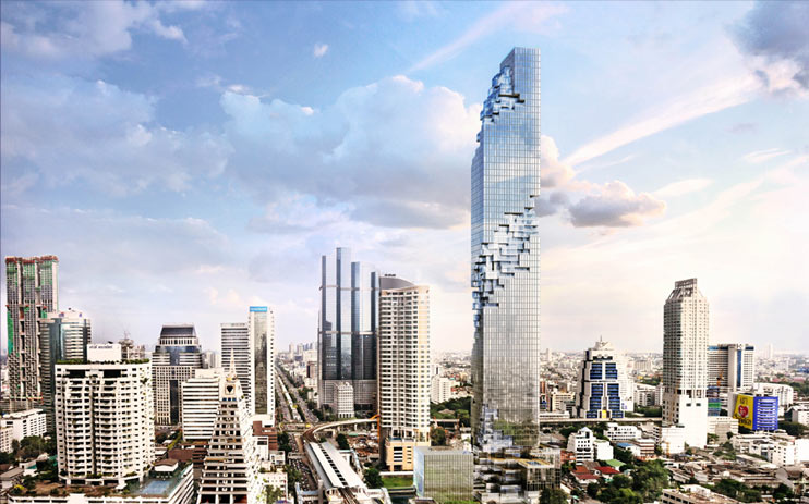 mahanakhon building 3d rendering 5