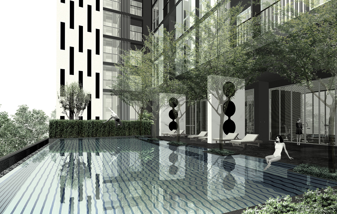 The One Residence Agency's Condo for Sale 2 Bedrooms at Noble Revolve Ratchada 7