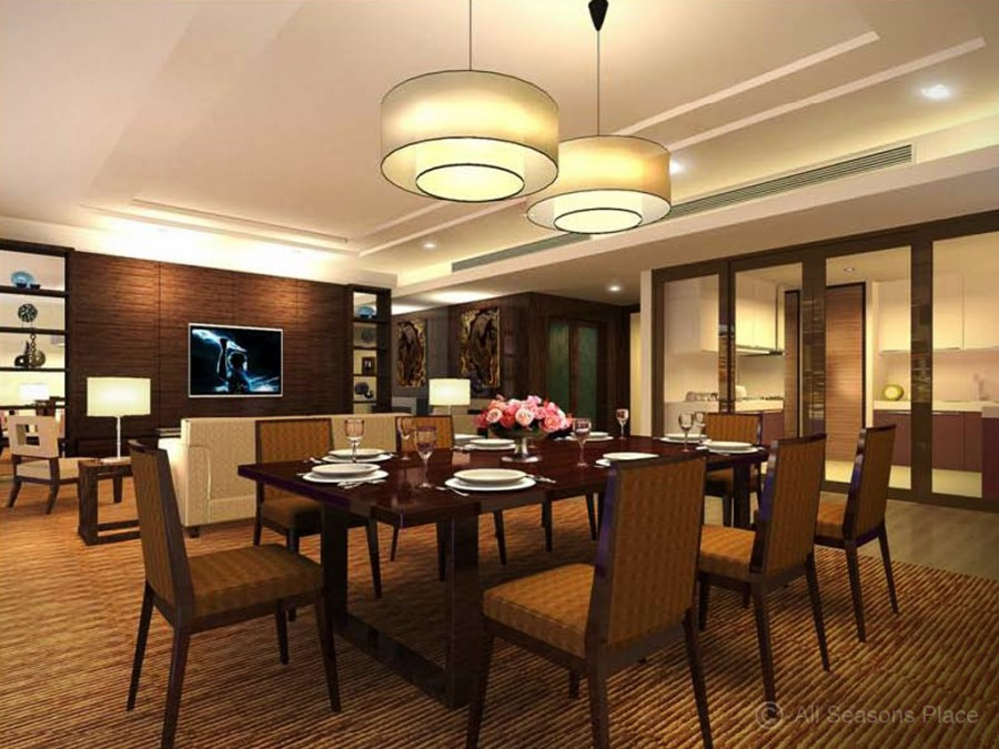 modern thai typea living dining room