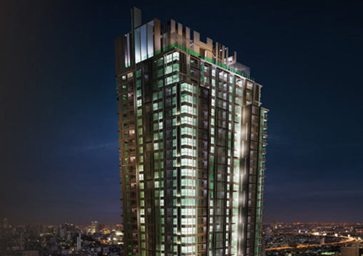 the address asoke 3d rendering exterior