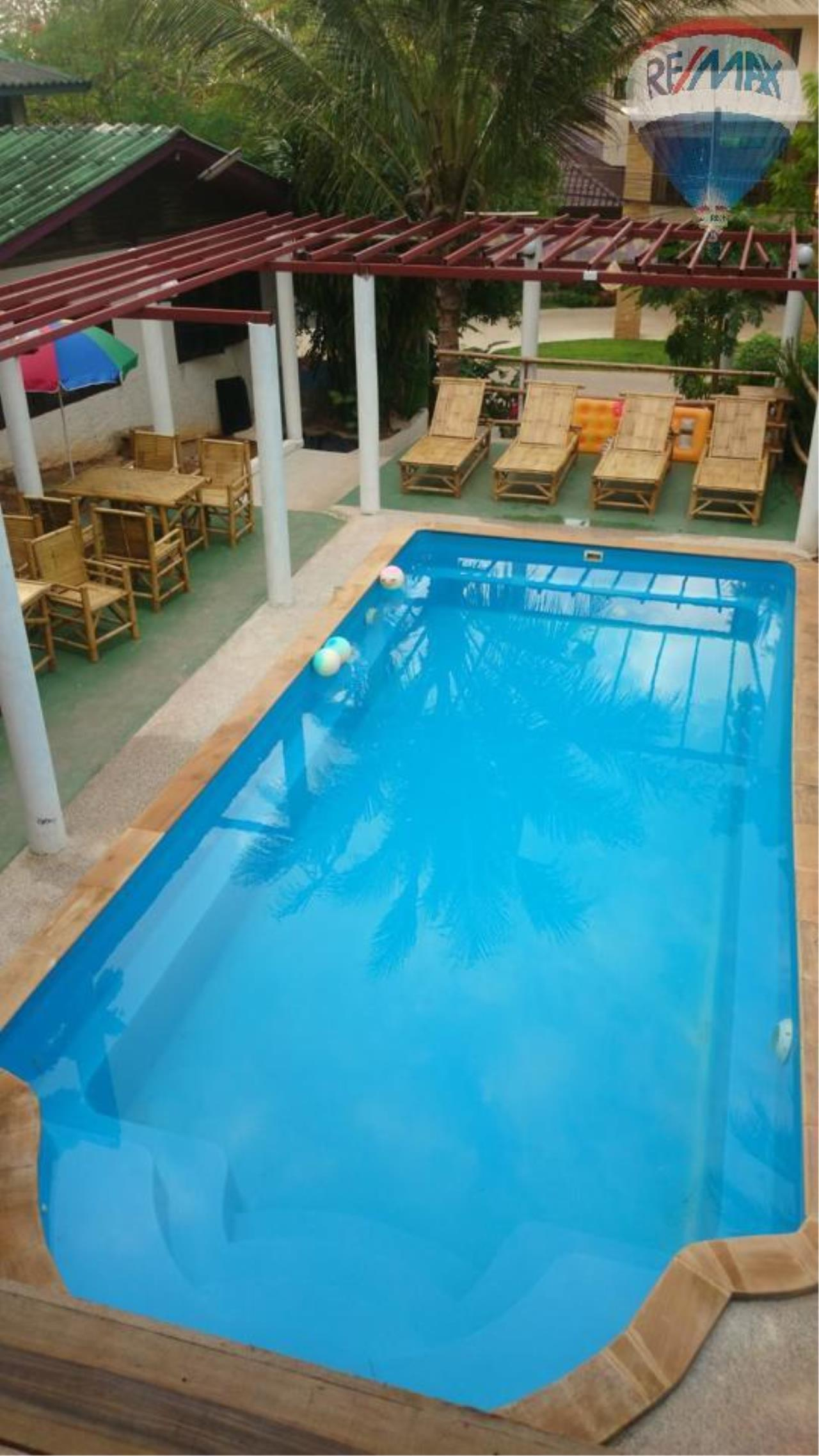 RE/MAX Top Properties Agency's Restaurant with swimming pool and sauna for sale at Naiharn 3