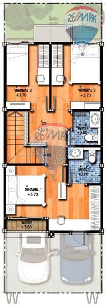 RE/MAX Top Properties Agency's Duo Townhome 3 Bedroom close to The Sri Sunthorn Municipality in Thalang 3
