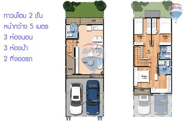 RE/MAX Top Properties Agency's Duo Townhome 3 Bedroom close to The Sri Sunthorn Municipality in Thalang 5