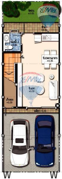 RE/MAX Top Properties Agency's Duo Townhome 3 Bedroom close to The Sri Sunthorn Municipality in Thalang 6