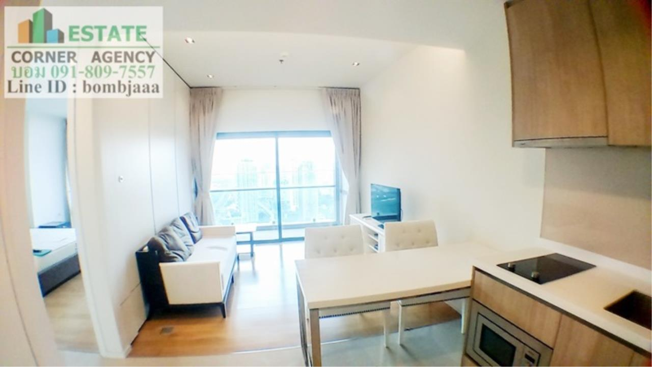 Estate Corner Agency Agency's 20018-Condo 1 Bedroom 49 sq.m. for rent Circle 2 Living Prototype Petchburi Rd. near Airport Link Makkasan 6