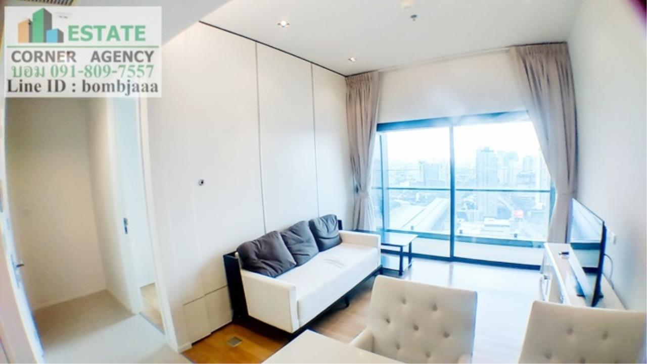Estate Corner Agency Agency's 20018-Condo 1 Bedroom 49 sq.m. for rent Circle 2 Living Prototype Petchburi Rd. near Airport Link Makkasan 14