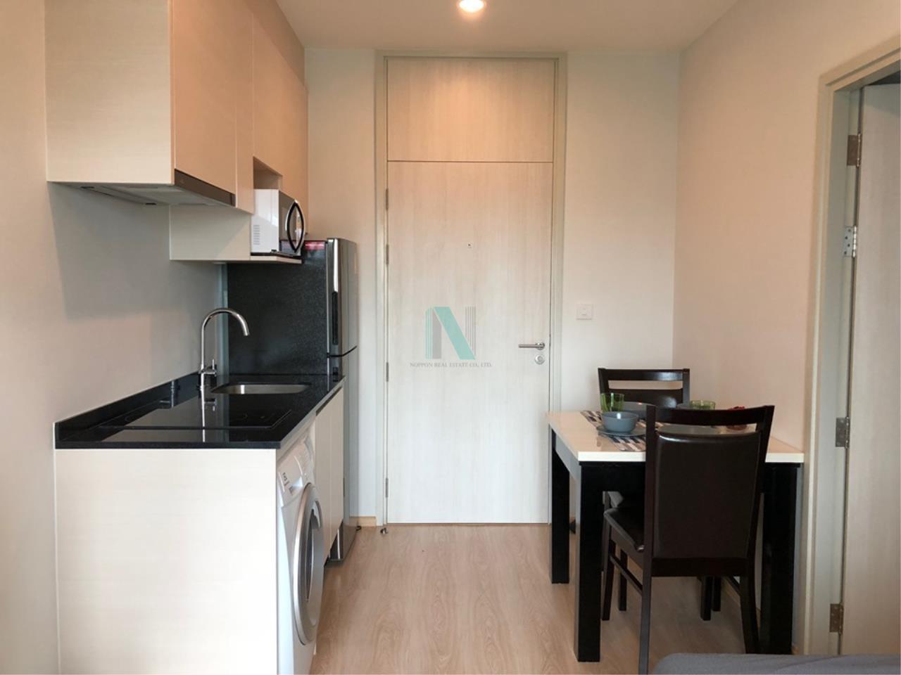 NOPPON REAL ESTATE CO.,LTD.  Agency's For Rent NOBLE REVOLVE Ratchada 1 bed 1 bath MRT Cultural Center 5