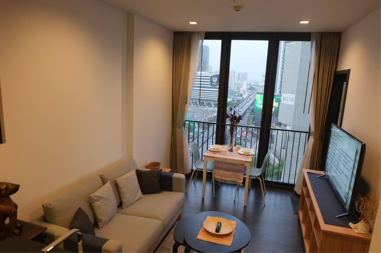 NOPPON REAL ESTATE CO.,LTD.  Agency's For rent The Line Asoke-Ratchada 1 bedroom 15th floor near MRT Phra Ram 9 1
