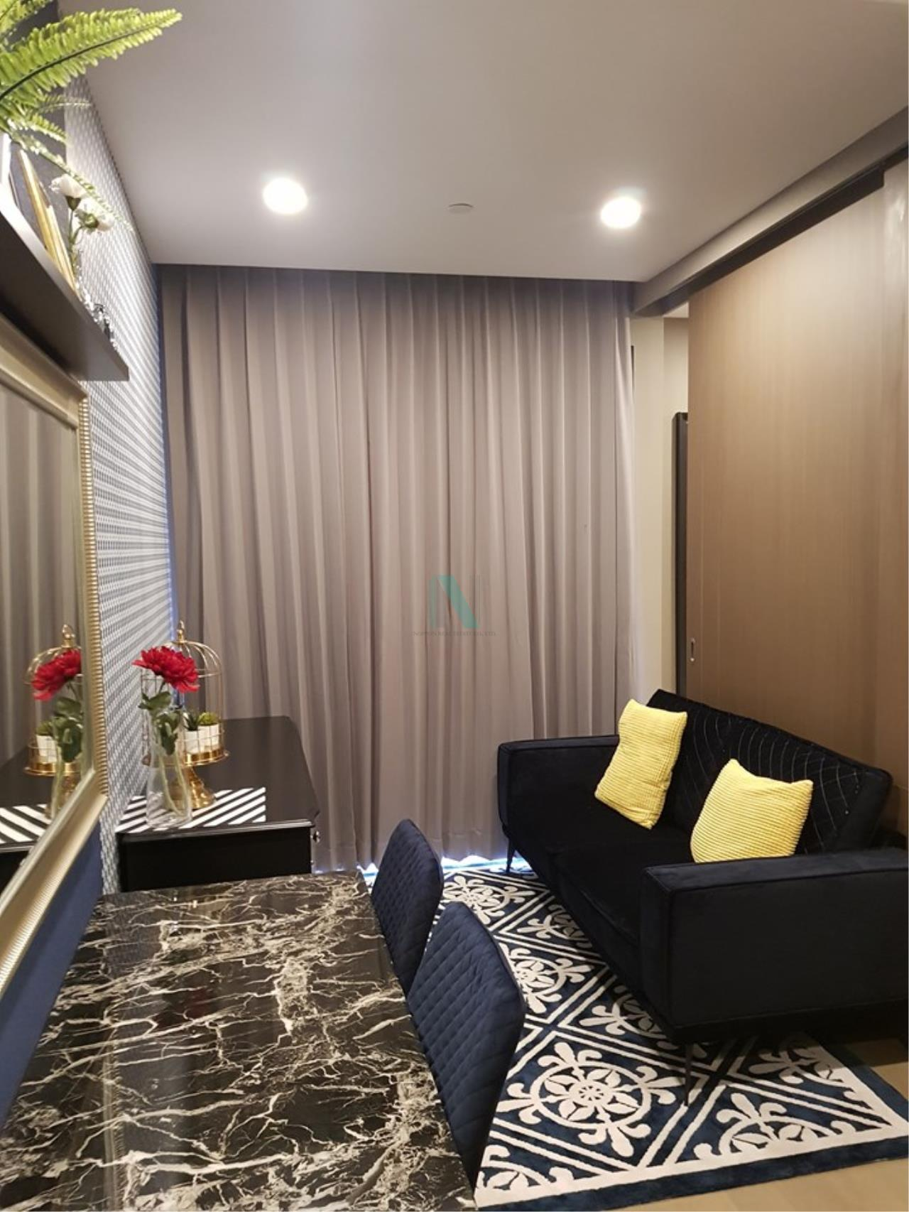 NOPPON REAL ESTATE CO.,LTD.  Agency's For Rent Ashton Chula-Silom, size 35 sqm, 1 bedroom, 1 bathroom, MRT Sam Yan 3