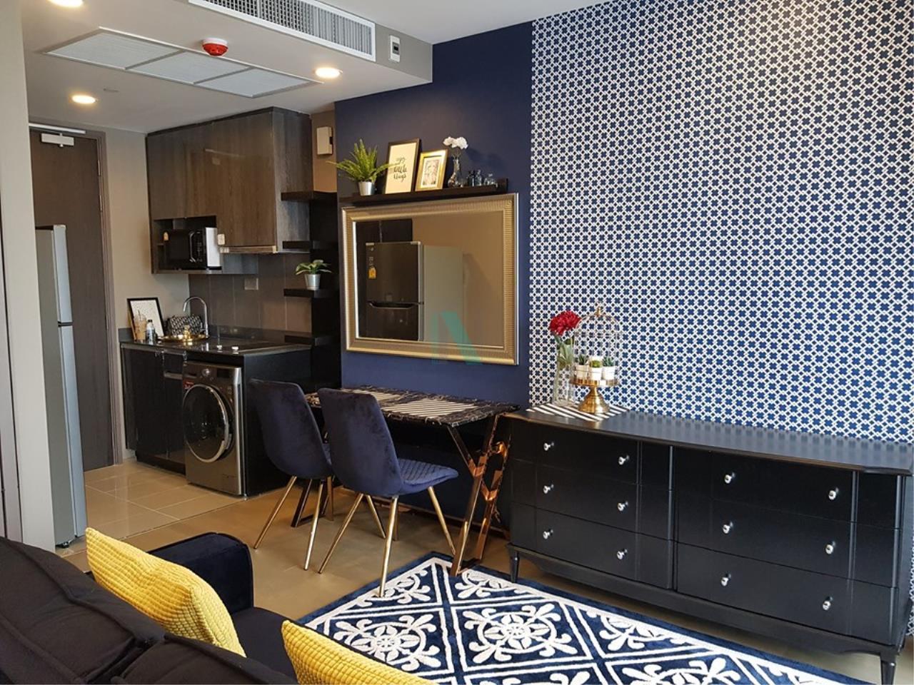NOPPON REAL ESTATE CO.,LTD.  Agency's For Rent Ashton Chula-Silom, size 35 sqm, 1 bedroom, 1 bathroom, MRT Sam Yan 5