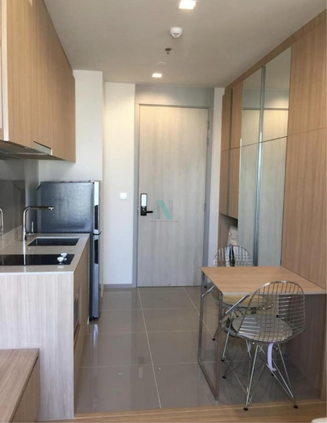 NOPPON REAL ESTATE CO.,LTD.  Agency's M Jatujak Condo for rent, 1 bedroom, 32 sq.m., fully furnished, ready to move in, near BTS Mo chit 2