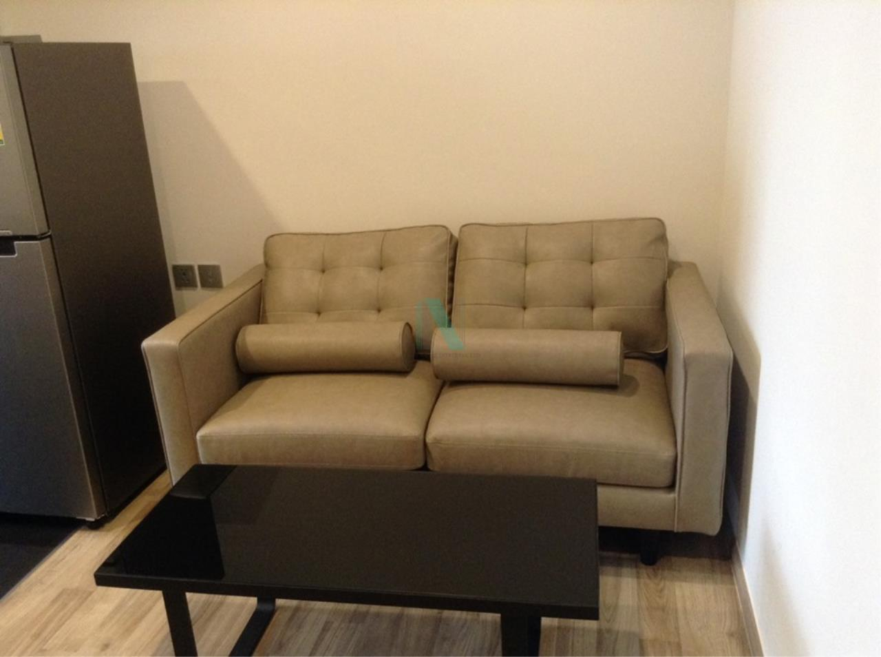 NOPPON REAL ESTATE CO.,LTD.  Agency's For rent, Condo THE LINE Jatujak-Mochit, size 26.48 sq.m., 1 bedroom, fully furnished, ready to move in. Mo Chit 2