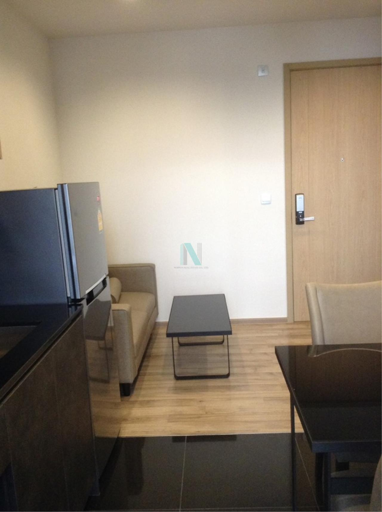 NOPPON REAL ESTATE CO.,LTD.  Agency's For rent, Condo THE LINE Jatujak-Mochit, size 26.48 sq.m., 1 bedroom, fully furnished, ready to move in. Mo Chit 3