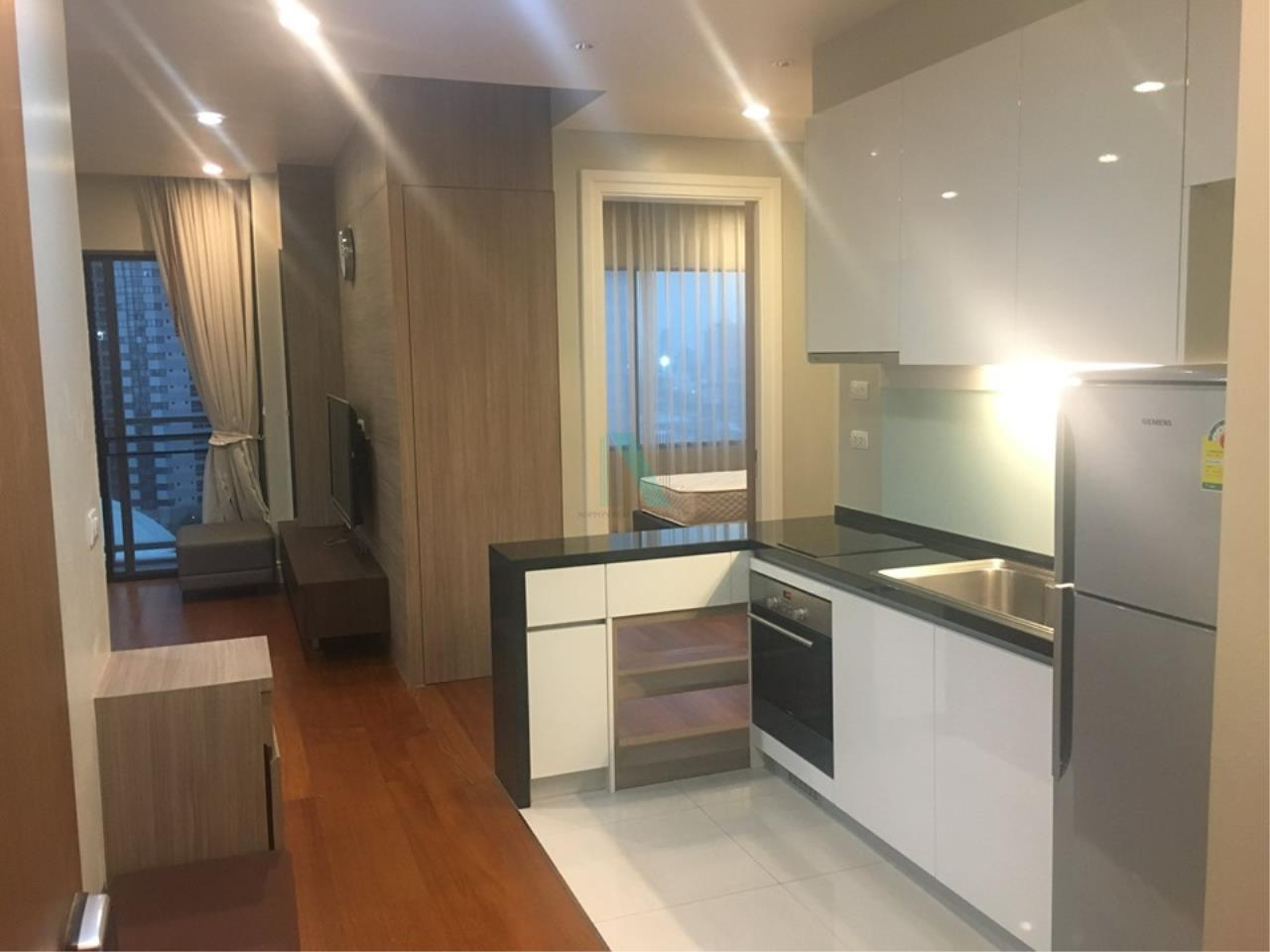 NOPPON REAL ESTATE CO.,LTD.  Agency's For rent Bright Sukhumvit 24, 2 bedrooms, 2 bathrooms, 88 sq.m. area, fully furnished, ready to move in, BTS Phrom Phong 6