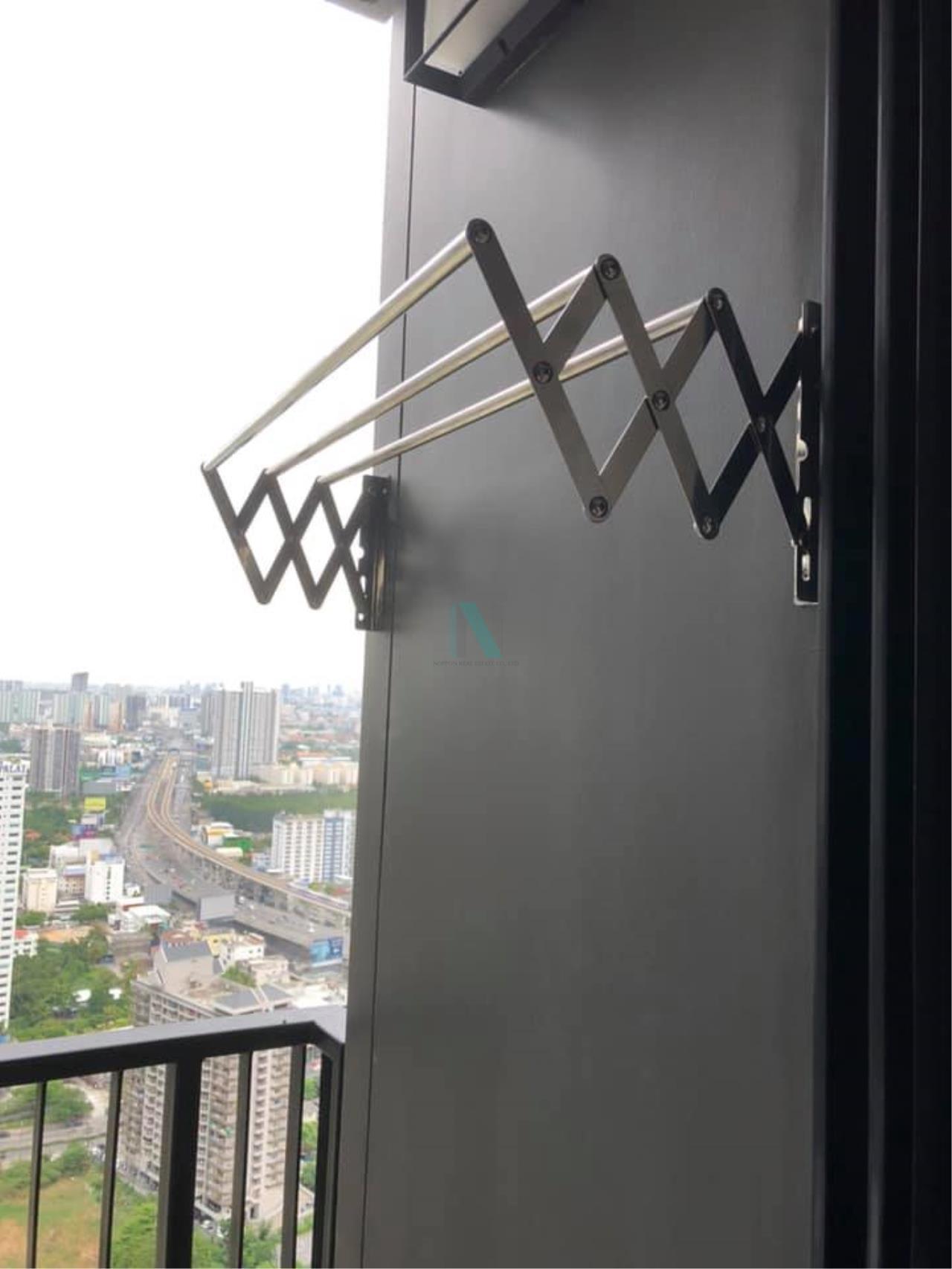 NOPPON REAL ESTATE CO.,LTD.  Agency's For rent The Politan River 1 bedroom 42th floor near MRT Phra Nangklao 7