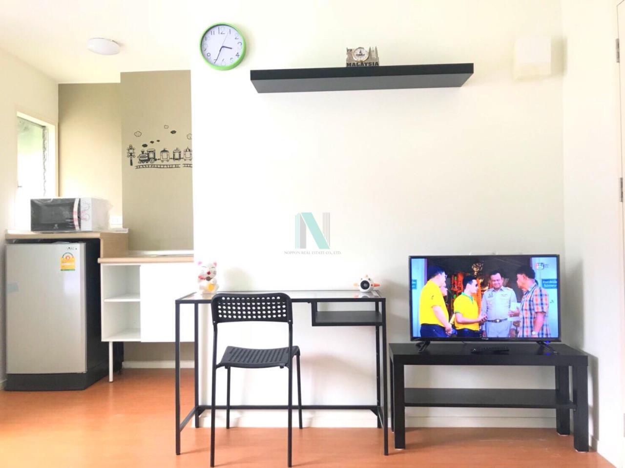 NOPPON REAL ESTATE CO.,LTD.  Agency's For rent Lumpini Condo Town Romklao - Suvarnabhumi STUDIO 5th floor  6