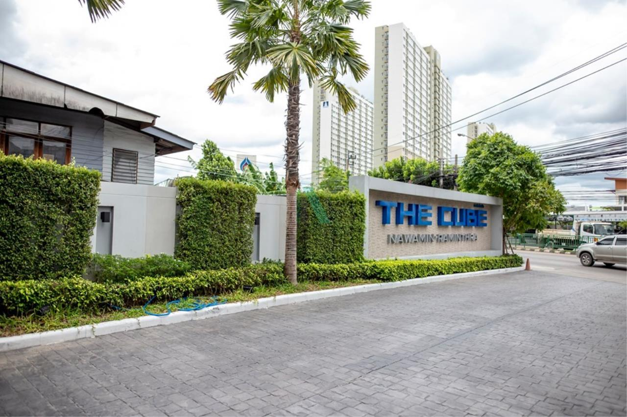 NOPPON REAL ESTATE CO.,LTD.  Agency's For rent The Cube Nawamin - Ramindra 1 bedroom 4th floor Building A 8