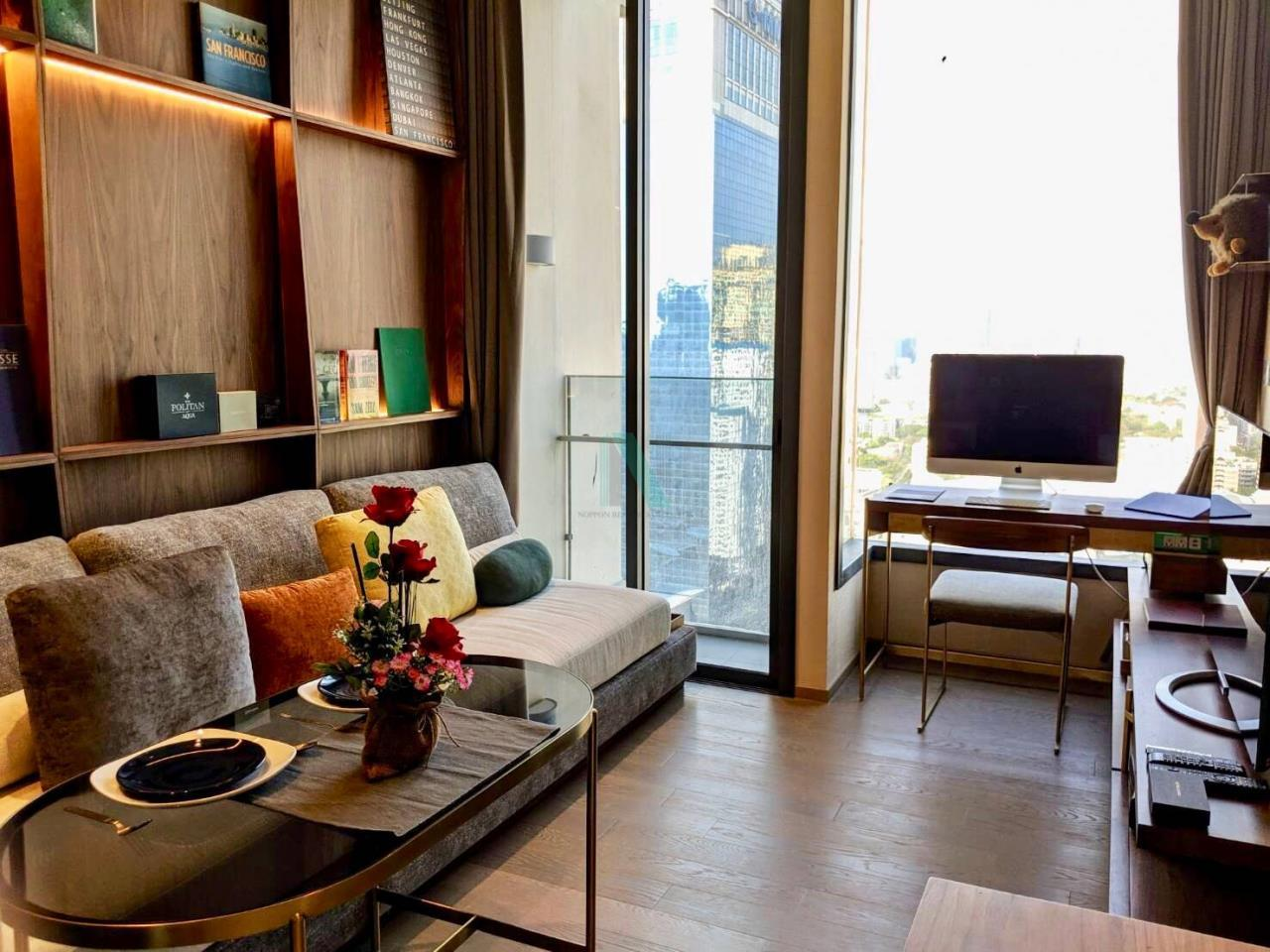 NOPPON REAL ESTATE CO.,LTD. Agency's For rent The ESSE Asoke 1 bedroom, 29 sq.m., corner unit, fully furnished, ready to move in, BTS Asoke. 4