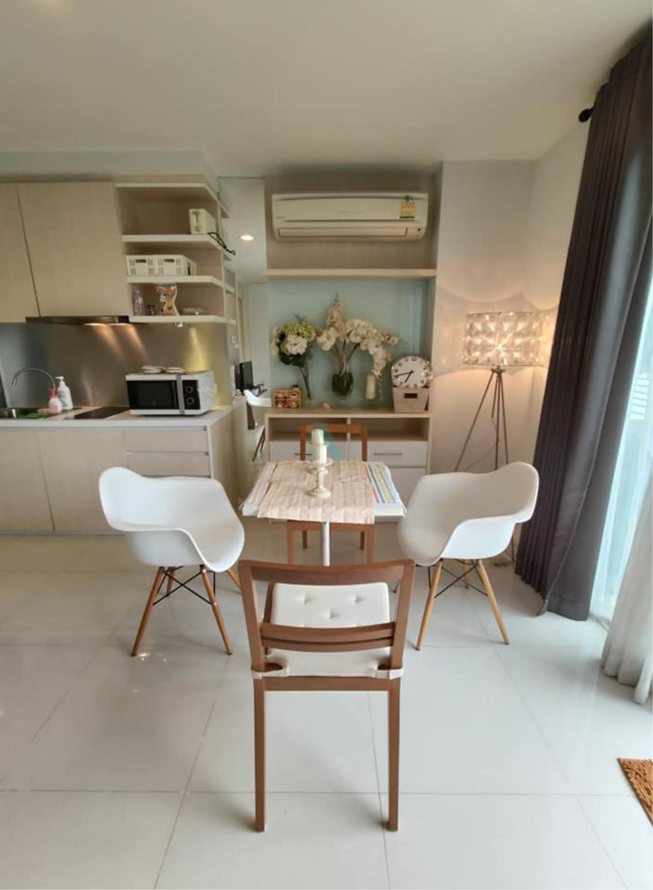 NOPPON REAL ESTATE CO.,LTD.  Agency's For rent WHIZDOM THE EXCLUSIVE 1 Bedroom 44.5 sqm. Floor 2 near BTS Punnawithi 400 m. 3