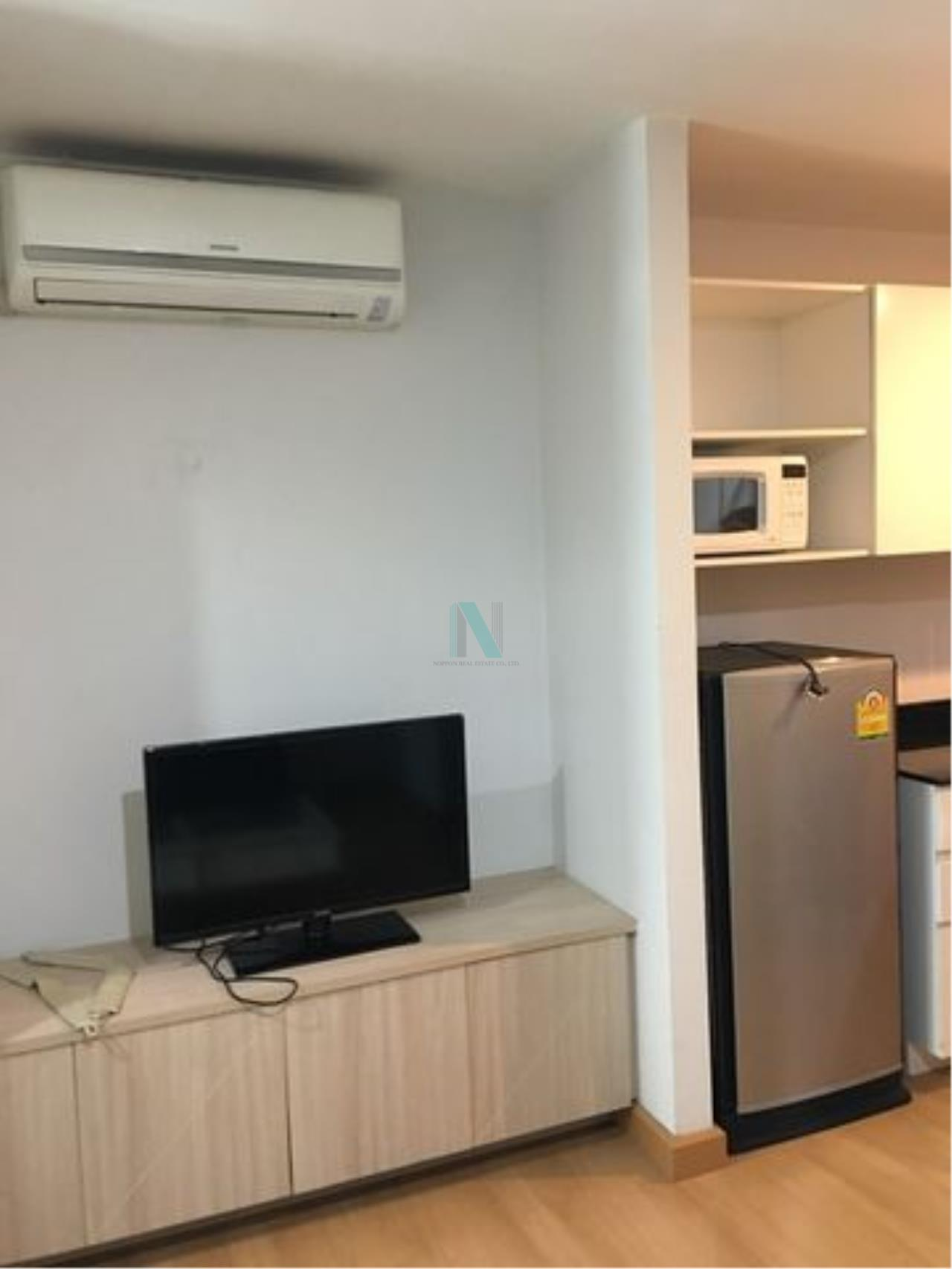NOPPON REAL ESTATE CO.,LTD.  Agency's For rent Swift Condo ABAC Bangna 1 bedroom 2nd floor Building B 6
