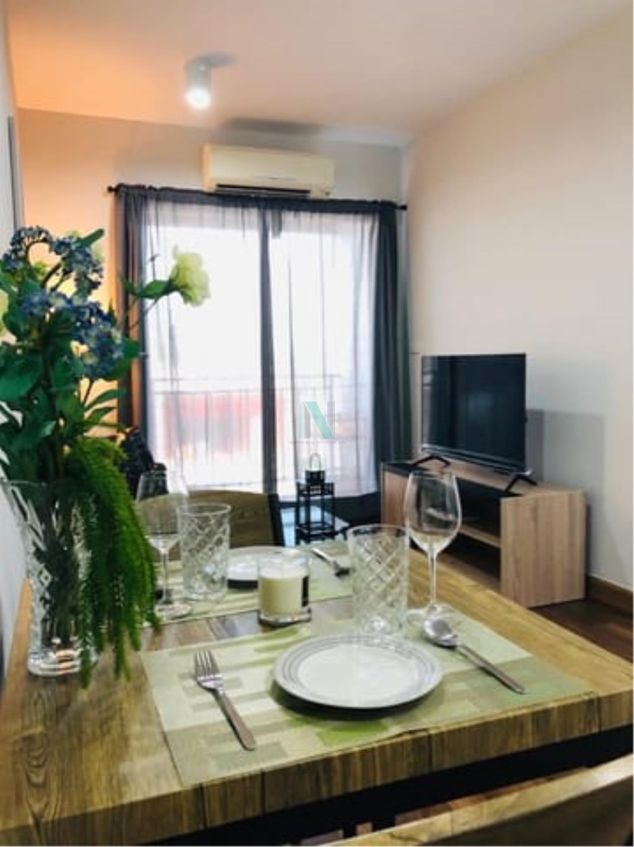 NOPPON REAL ESTATE CO.,LTD.  Agency's For rent The Iris Bangyai 1 bedroom 4th floor Building A  7