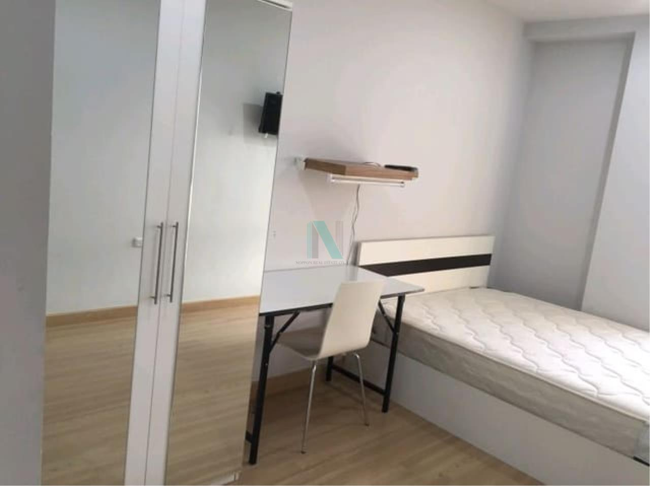 NOPPON REAL ESTATE CO.,LTD.  Agency's For rent, The Kith Tiwanon, 2 bedrooms, size 57.90 sq.m., fully furnished and ready to move in. 1