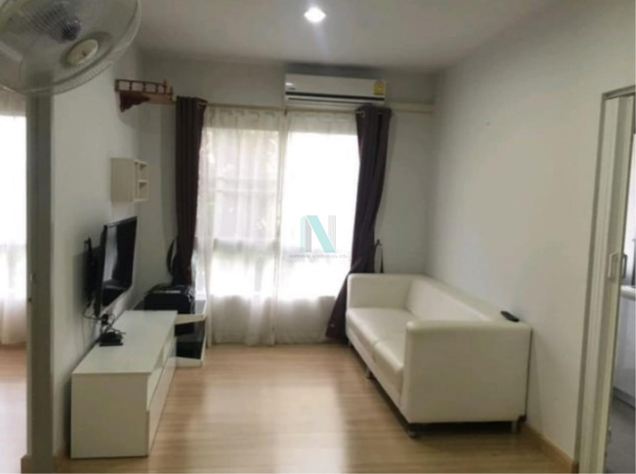 NOPPON REAL ESTATE CO.,LTD.  Agency's For rent, The Kith Tiwanon, 2 bedrooms, size 57.90 sq.m., fully furnished and ready to move in. 4