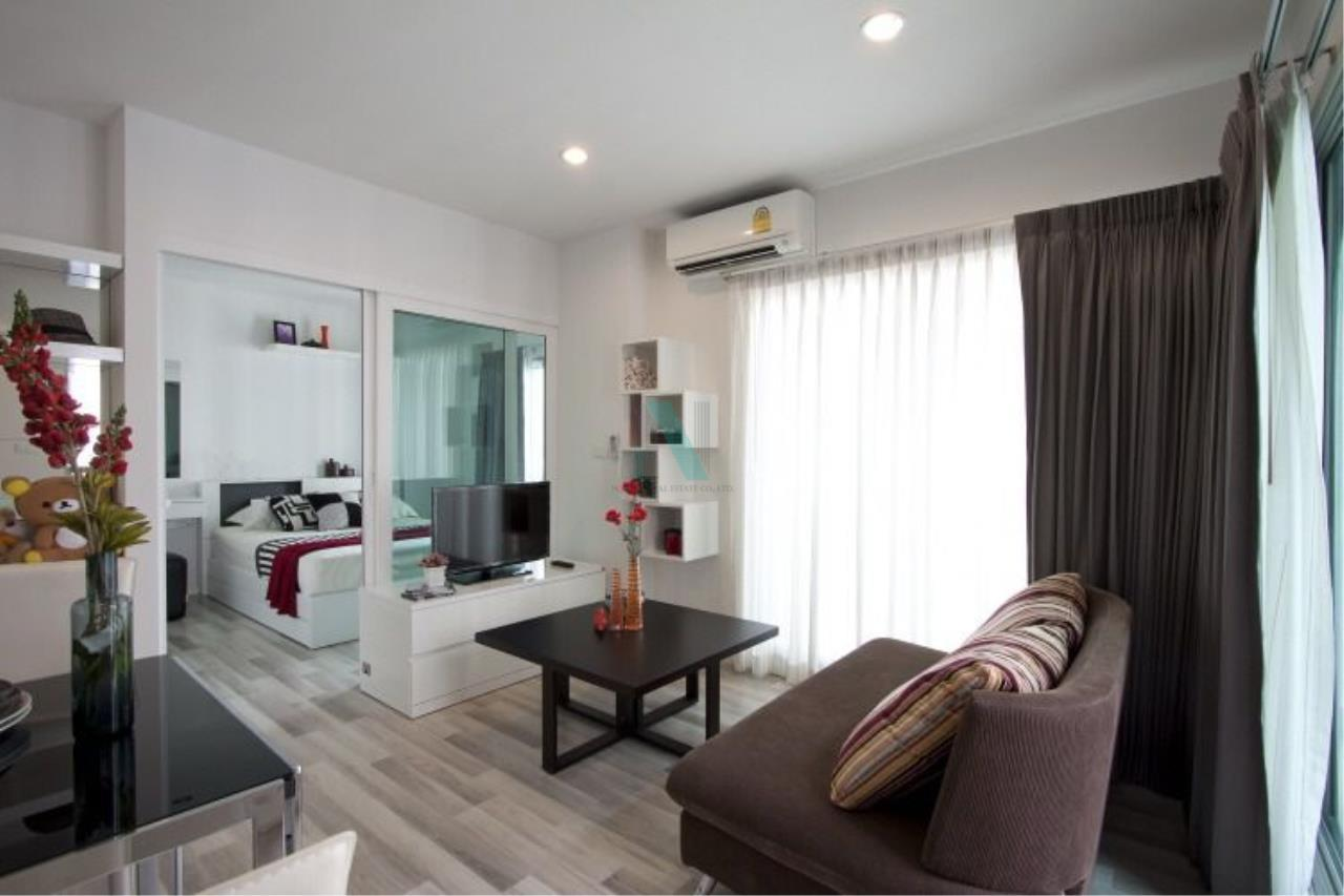 NOPPON REAL ESTATE CO.,LTD.  Agency's For rent, the key Chaengwattana, 34.5 sq.m., 1 bedroom, corner unit. 6