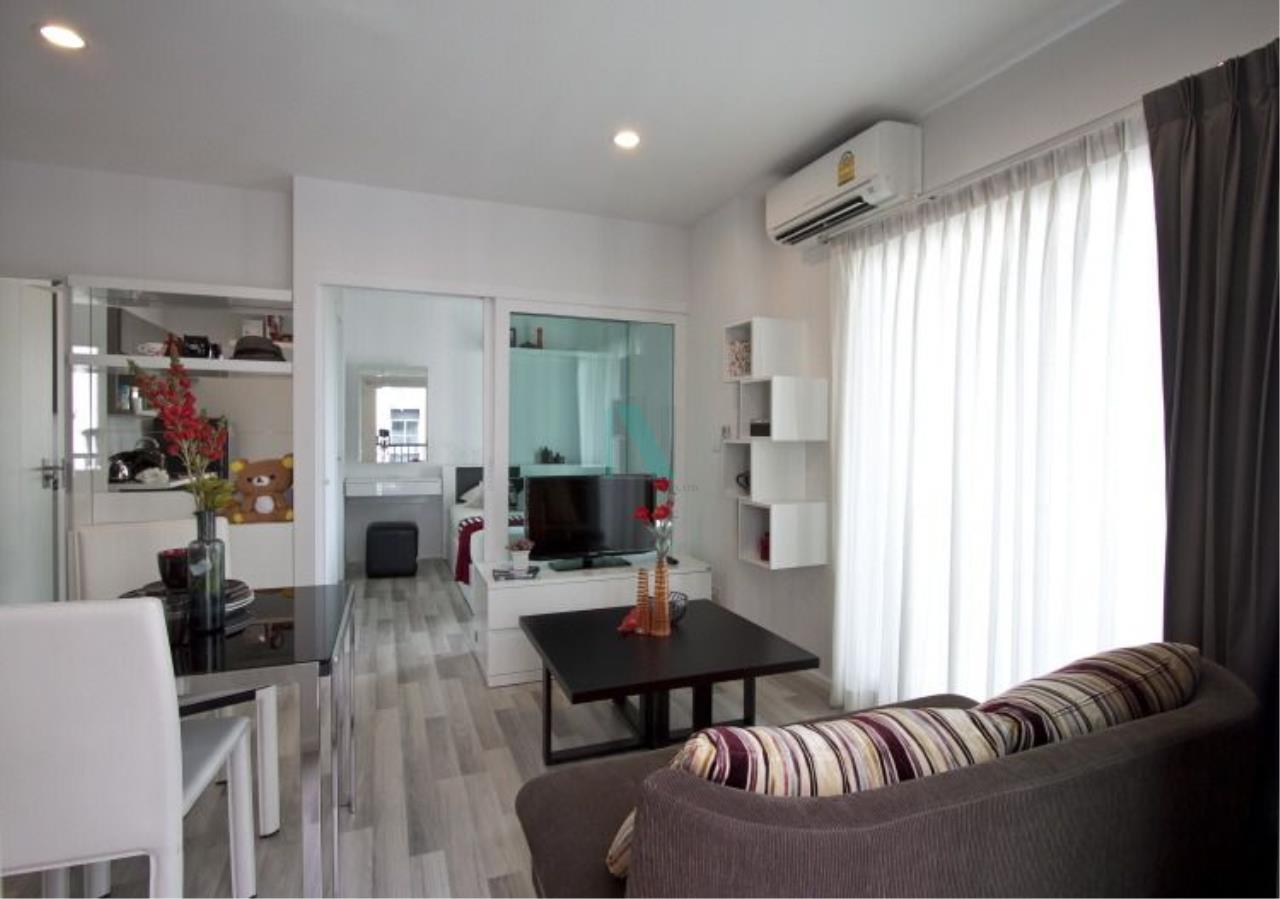NOPPON REAL ESTATE CO.,LTD.  Agency's For rent, the key Chaengwattana, 34.5 sq.m., 1 bedroom, corner unit. 8