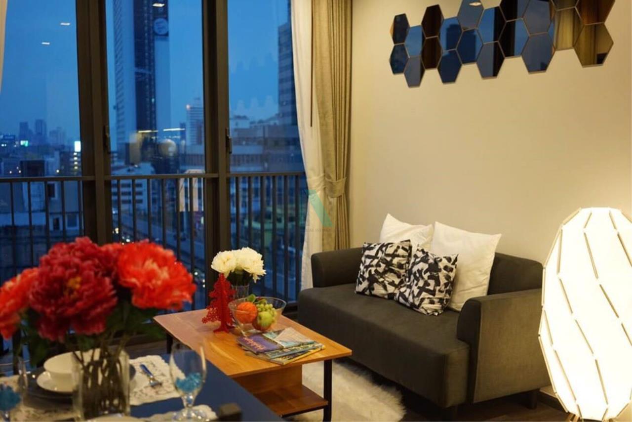 NOPPON REAL ESTATE CO.,LTD. Agency's For rent The LINE Asoke-Ratchada 1 bedroom 9th floor near MRT Phra Ram 9. 5