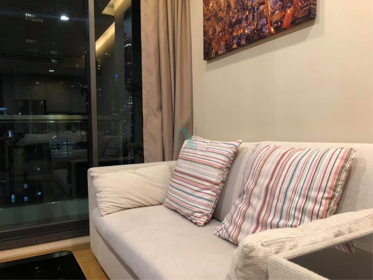 NOPPON REAL ESTATE CO.,LTD. Agency's For rent The Address Sathorn 1 bedroom 9th floor near BTS Chong Nonsi. 5