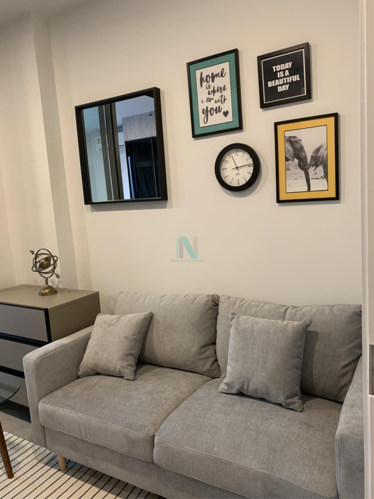 NOPPON REAL ESTATE CO.,LTD. Agency's For rent Ciela Sripatum 1 bedroom 2th floor near BTS Si Pathum. 2