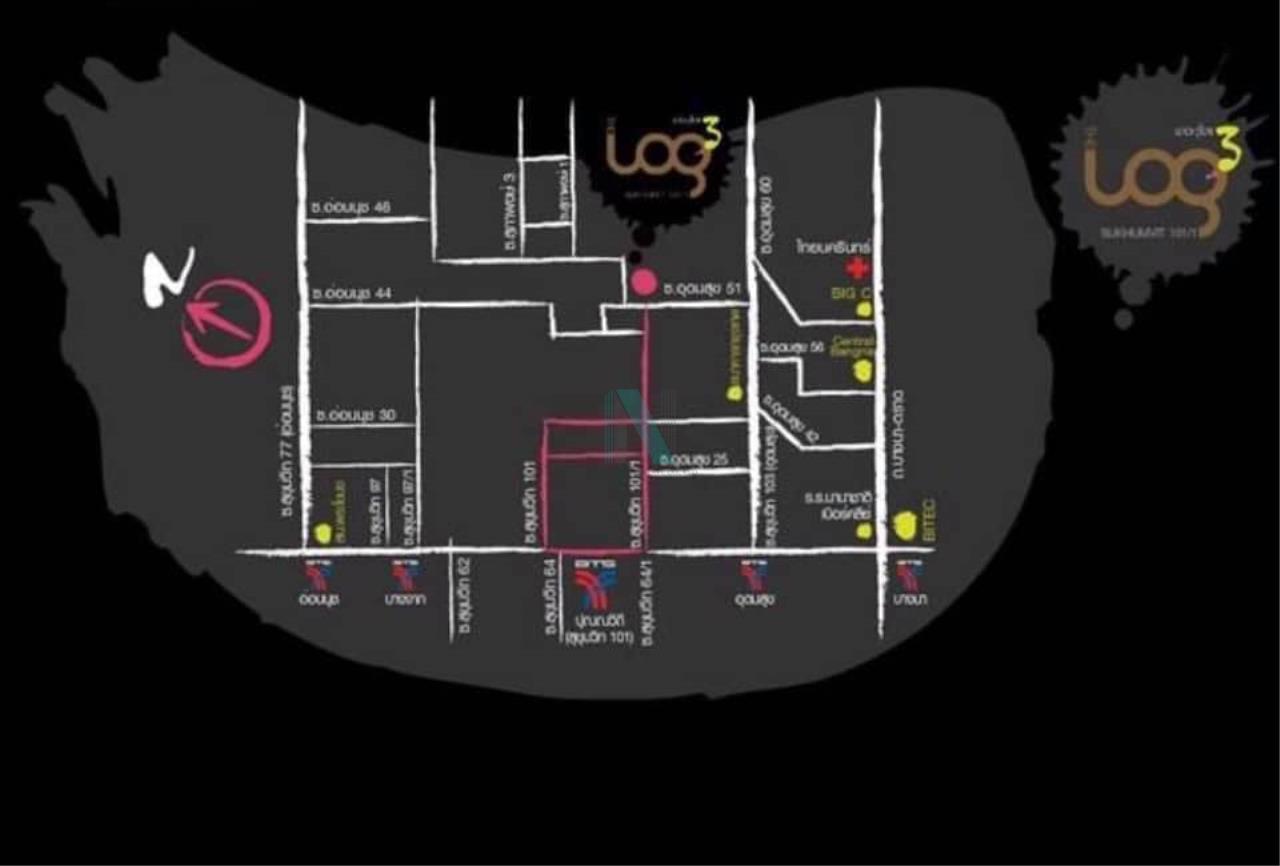NOPPON REAL ESTATE CO.,LTD. Agency's For rent THE LOG 3 SUKHUMVIT 101/1 1 bedroom 4th floor Berry Building. 8