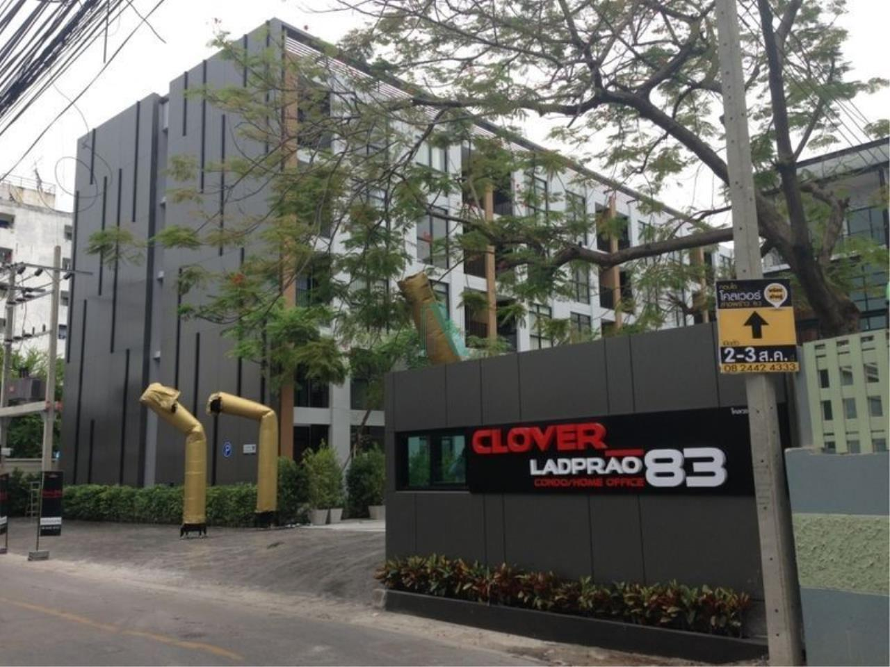 NOPPON REAL ESTATE CO.,LTD.  Agency's For rent Clover Ladprao 83 1 bedroom 3rd floor near Imperial World Ladprao. 8