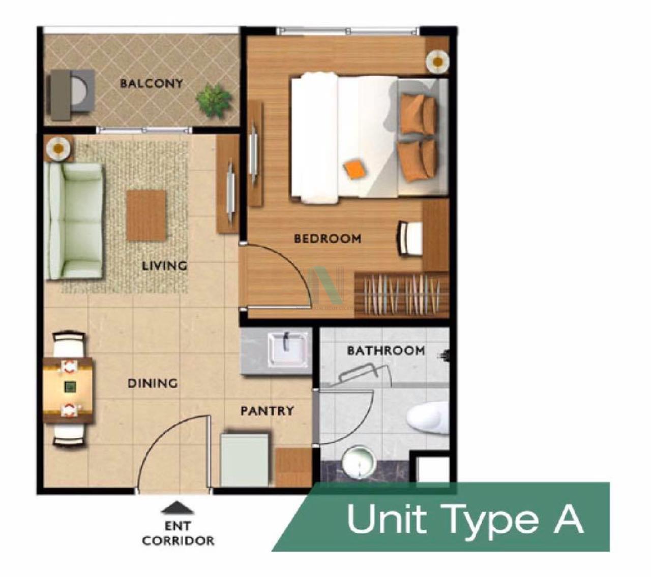 NOPPON REAL ESTATE CO.,LTD.  Agency's For rent RICH PARK @ BANGSON STATION 1 bedroom 20th floor. 7