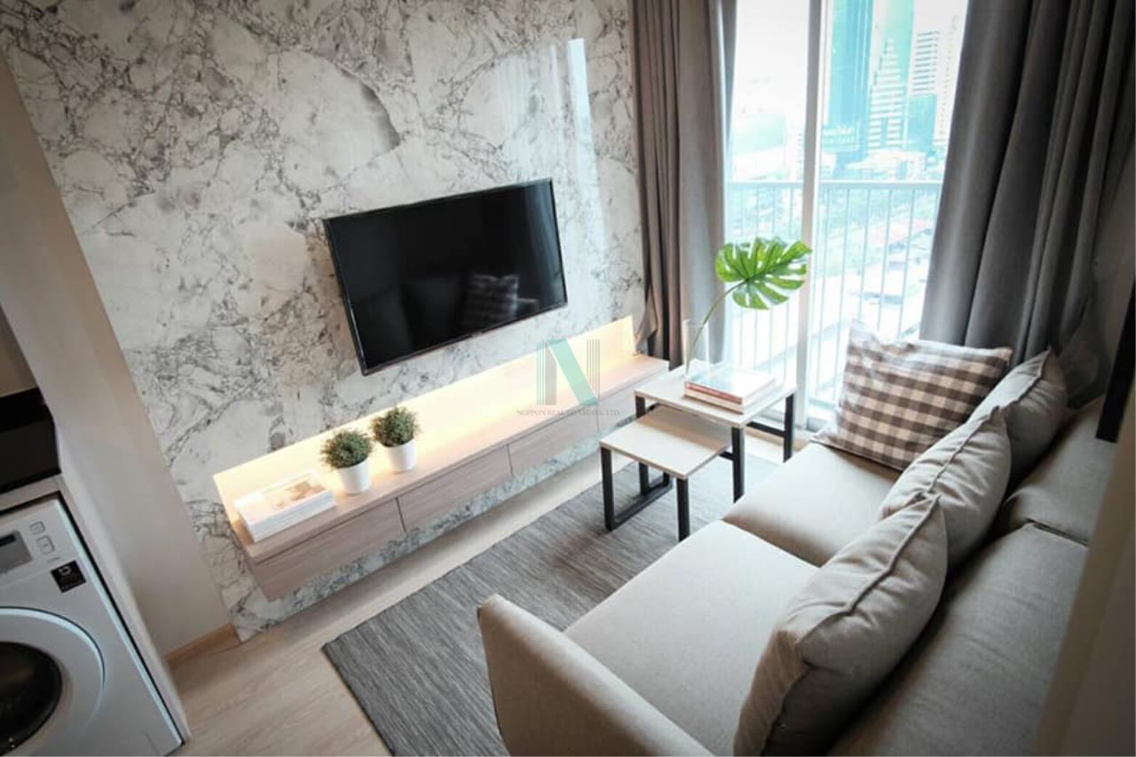 NOPPON REAL ESTATE CO.,LTD.  Agency's For rent Noble Revolve Ratchada 1 bedroom 14th floor . 4