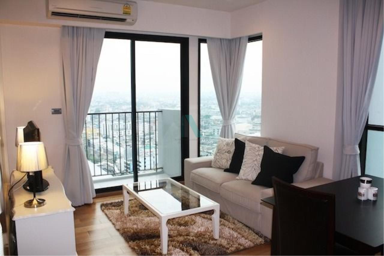 NOPPON REAL ESTATE CO.,LTD.  Agency's For Rent Fuse Sathorn-Taksin 1 Bedroom 24th Floor near BTS Wongwian Yai. 1