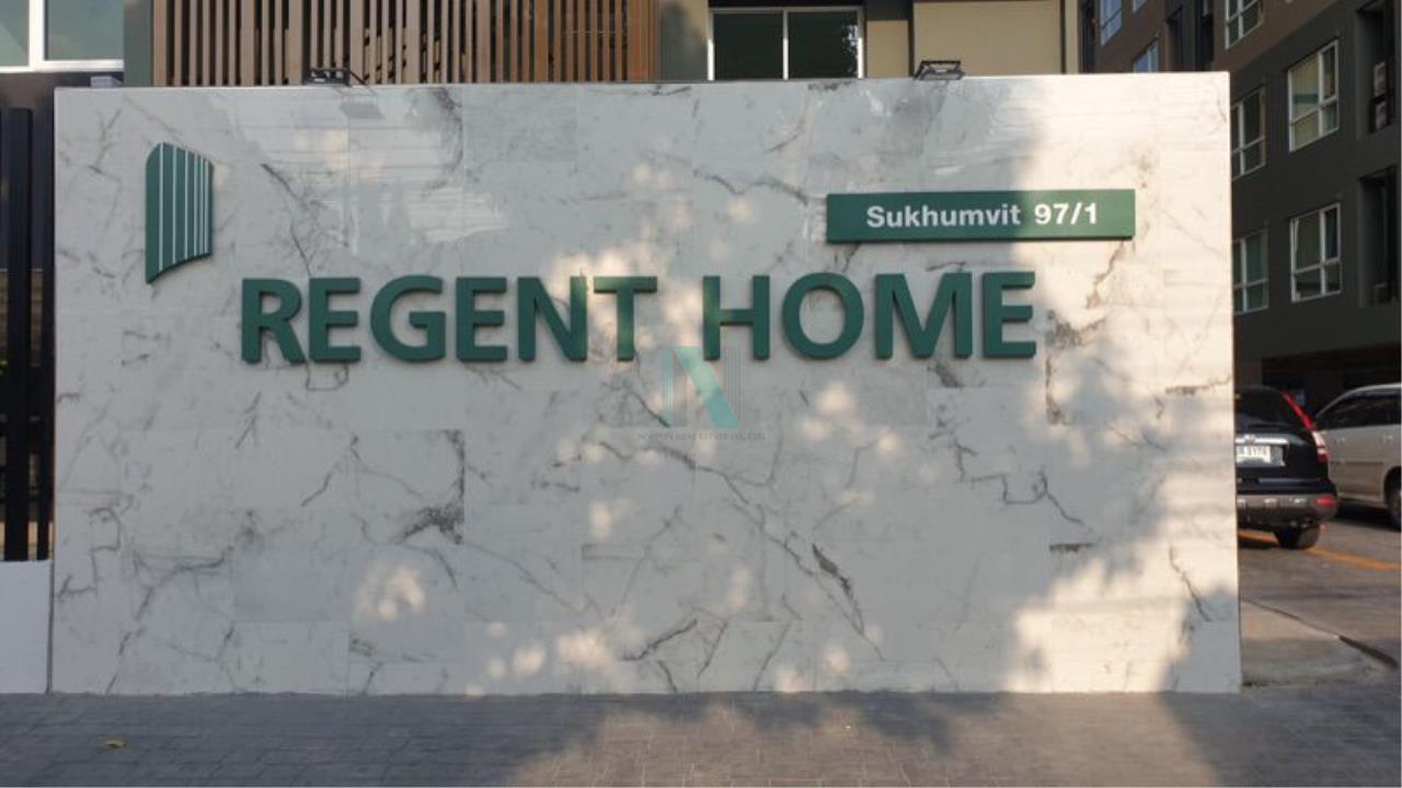 NOPPON REAL ESTATE CO.,LTD. Agency's For rent Regent Home Sukhumvit 97/1 1 bedroom Floor 5 Building C. 8