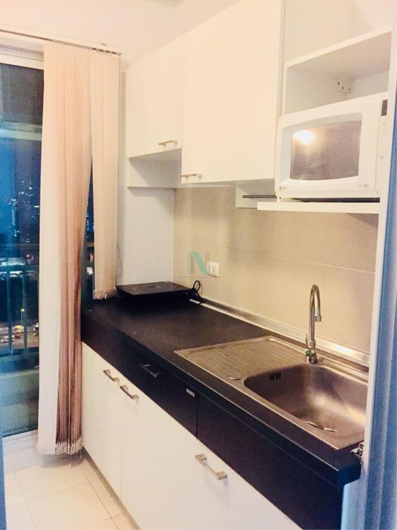 NOPPON REAL ESTATE CO.,LTD. Agency's For Rent Supalai Park Asoke-Ratchada STUDIO 24th floor near MRT Rama 9. 7