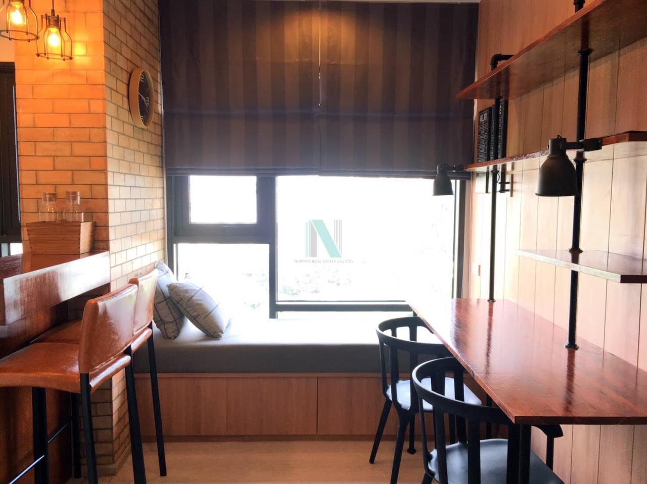 NOPPON REAL ESTATE CO.,LTD. Agency's For Rent Rhythm Sukhumvit 36-38 1 bedroom 11th floor near BTS Thong Lo. 7