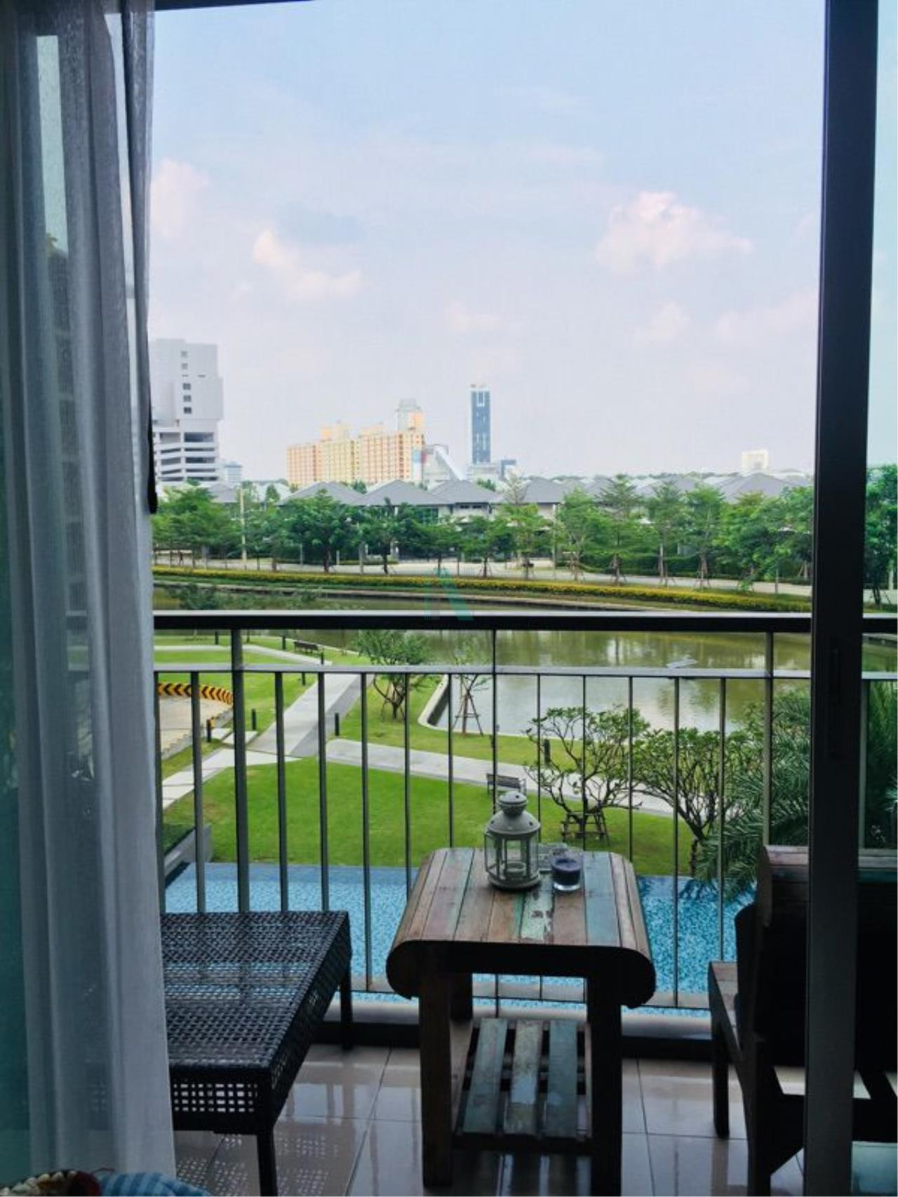 NOPPON REAL ESTATE CO.,LTD.  Agency's For rent THE PARKLAND SRINAKARIN LAKESIDE 37 sqm 1 bedroom 4th floor beautiful view, fully furnished 4