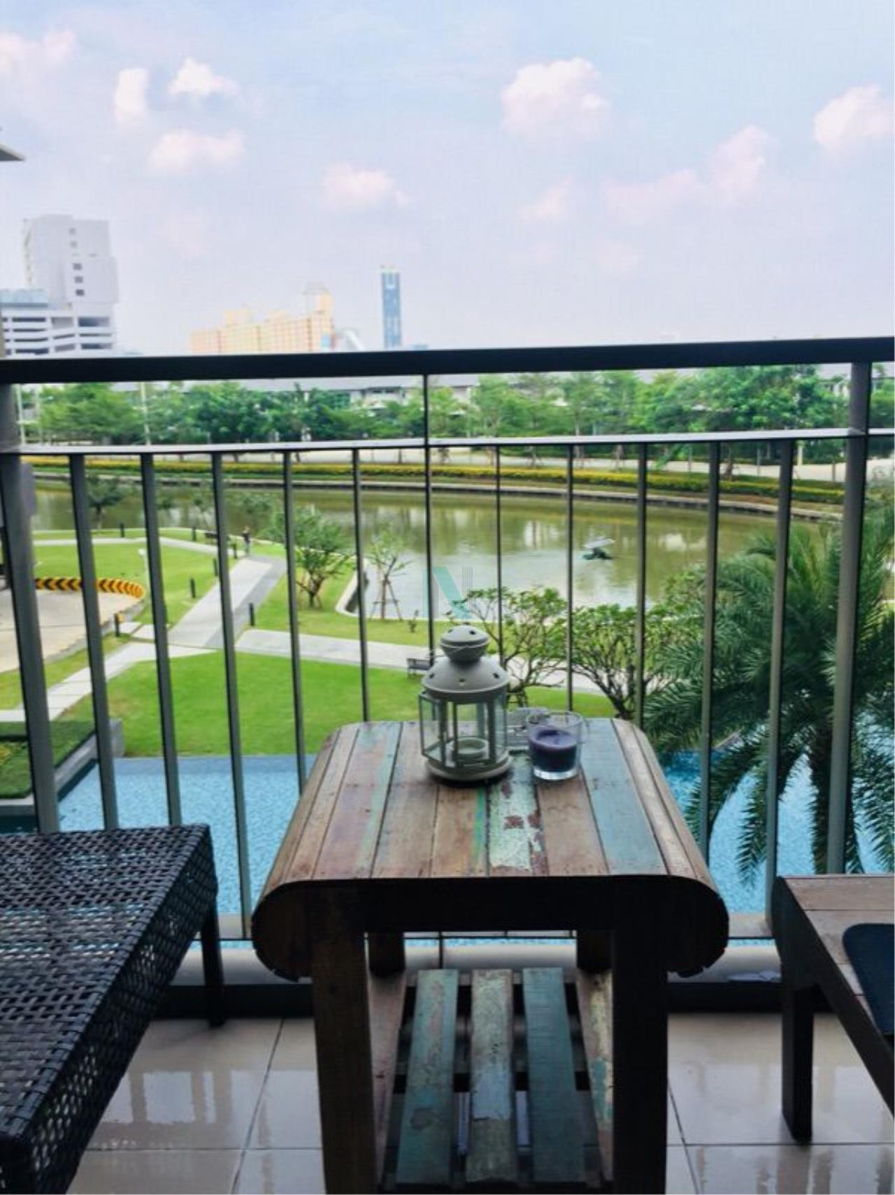 NOPPON REAL ESTATE CO.,LTD.  Agency's For rent THE PARKLAND SRINAKARIN LAKESIDE 37 sqm 1 bedroom 4th floor beautiful view, fully furnished 7