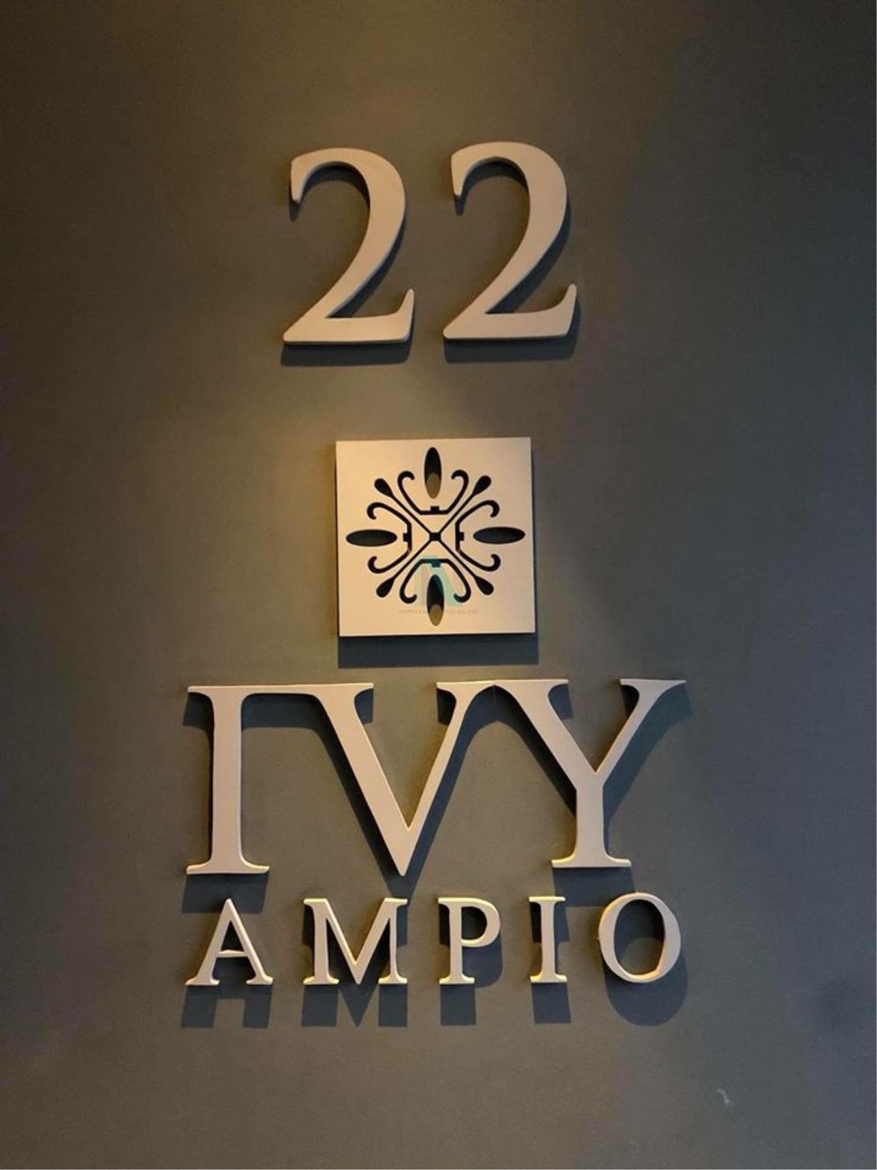 NOPPON REAL ESTATE CO.,LTD.  Agency's For rent Ivy Ampio Ratchada STUDIO Floor 22 near MRT Cultural Center. 8
