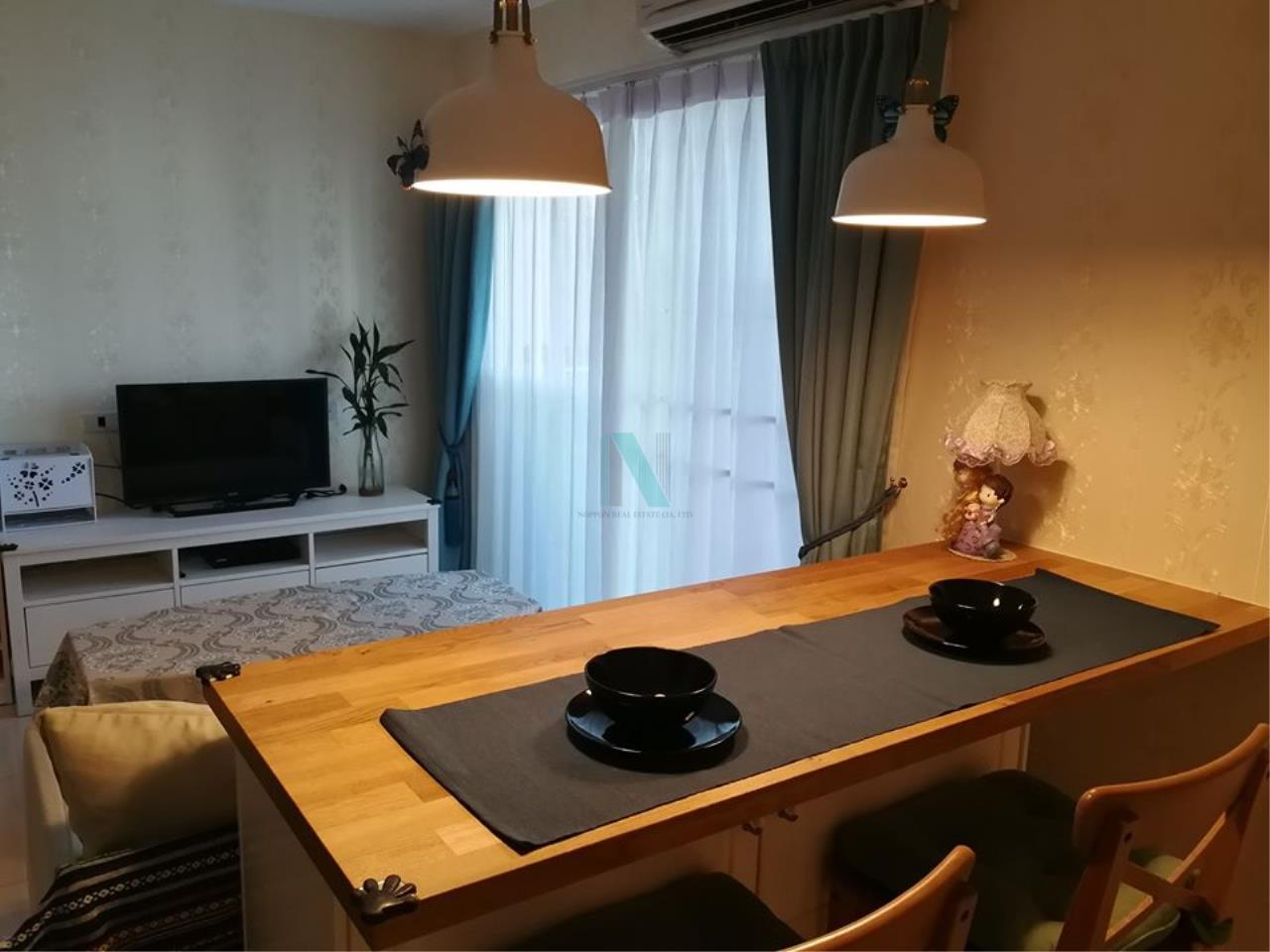 NOPPON REAL ESTATE CO.,LTD.  Agency's For rent WHIZDOM @ PUNNAWITHI STATION 2 bedrooms 7th floor Building A. 3